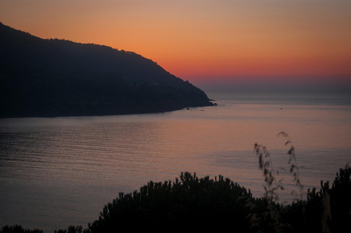 tramonto baia trentova